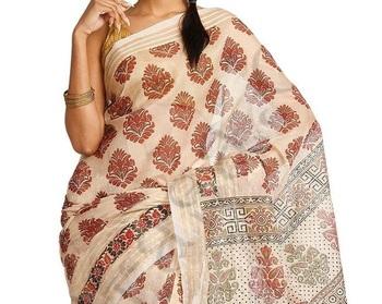 Kota silk fancy printed banarasi saree