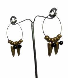 Buy Designer Golden Terracotta Hoop Earrings terracotta-jewelry online