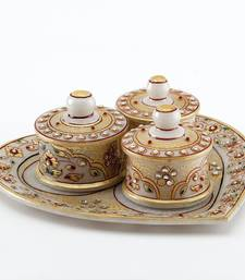 Buy Marvel In Marble - Heart Shaped Utility Tray Set With Embossed Gold_78 other-home-accessory online