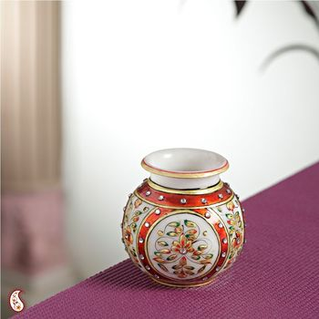 Gold work Marble Pot