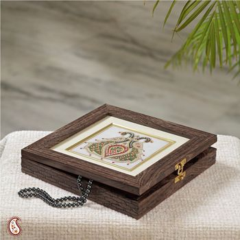 Antique finish Marble Jewellery Box