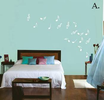 Musical notes abstract wall decal