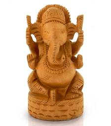 Buy Fine Carved Lord Ganesha Design Wooden Gift Diwali Gift 167 diwali-decoration online