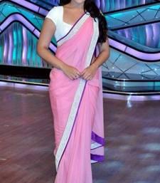 Buy Sonakshi Sinha Amazing Designer Pink Chiffon Saree Diwali Gift 548 diwali-sarees-collection online