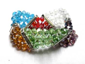 Zig zag crystal bracelet