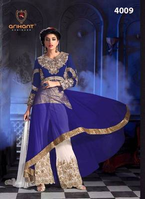 f1f9f7dab0e Buy VandV Traditional Heavy Plazo Anarkali Suit Online
