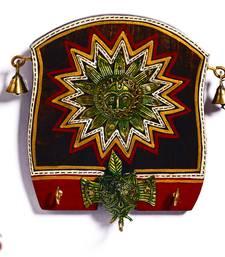 Buy Diwali Gifts Beautiful Wooden panel Key Holder with Sun Motif diwali-gift-hampers-idea online