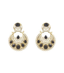 Buy Black polki danglers-drops danglers-drop online