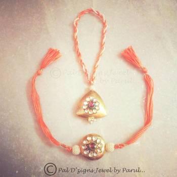 Pdz r-6 A jewel rakhi-lumba set