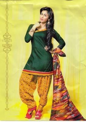 Dress material lawn cotton prints unstitched salwar kameez suit d.no PD121