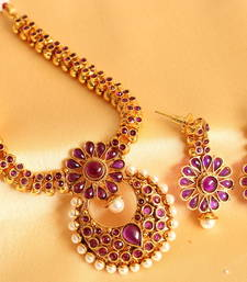 Buy BEAUTIFUL ANTIQUE PURPLE NECKLACE SET-DJ05036 necklace-set online