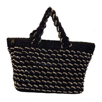 Sequins Crochet Small Handbag | Navy Blue