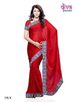 Gorgeous Karishma Kapoor Style Bollywood Saree made from Chiffon by Diva Fashion, Surat