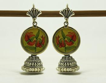 lemon flower miniature jhumka