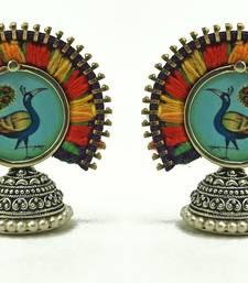 Buy color carnival- peacock studs stud online