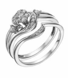 Buy Silver Plated Rd Sim Diamond Engagement & Wedding Bridal Ring Set Womens 5 6 7 8 cubic-zirconia-cz-ring online