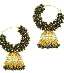 Buy Ethnic Indian Bollywood Fashion Jewelry Set Pearl Hoops Jhumki Earrings danglers-drop online