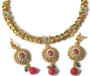 South Indian style necklace