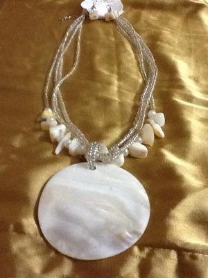 milky white neckpiece