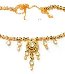 Buy Kundan Single  Liner Pearl Juda Waist Belly Hip Chain Belt Kamarband Keychain waist-belt online