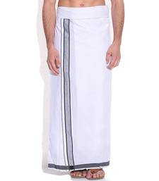 Buy Mens dhoti with Black boarder dhotis online