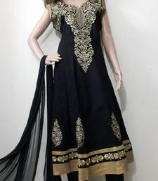 Buy Black cotton cotton salwar with dupatta plus-size-salwar online