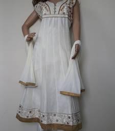 Buy Off White cotton satin salwar with dupatta plus-size-salwar online