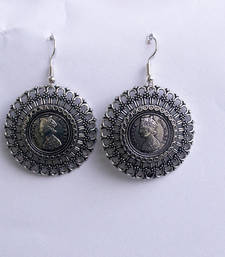 Buy Silver jhumka danglers-drop online