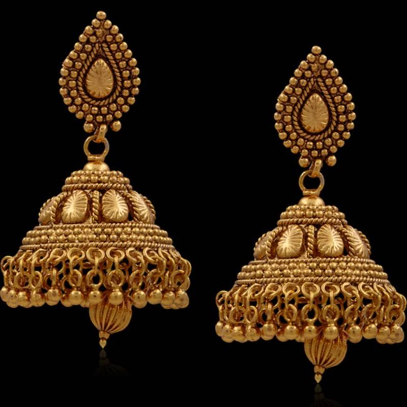 Buy Traditonal Beautiful Golden Jhumka Online