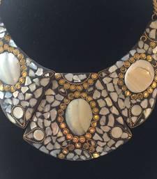 Buy Smoke Grey 3 piece tibetean choker necklace Necklace online