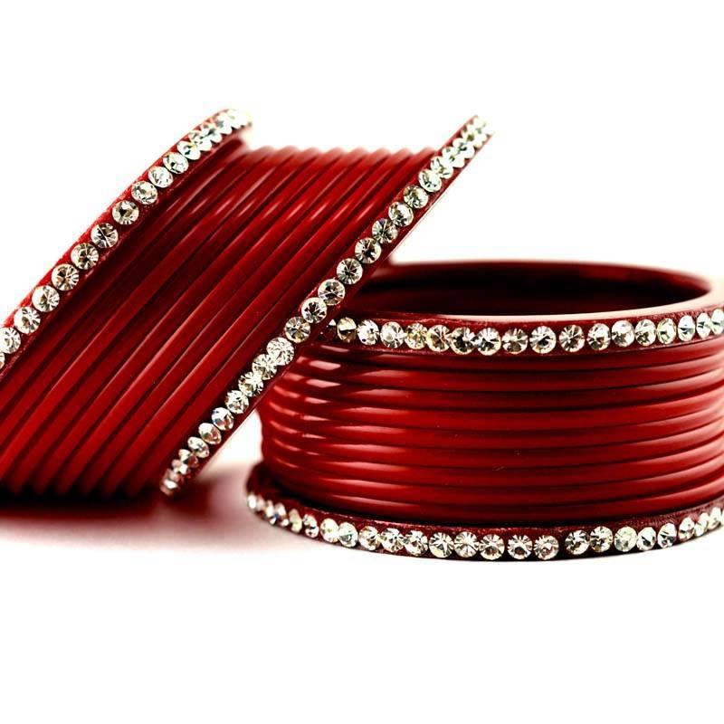 Buy Acrylic Plastic Churi Set Bangles Red Colour Nihar Online