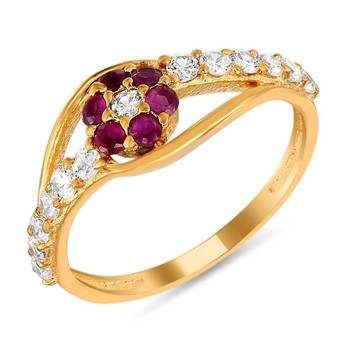 Mahi Glittering Beauty Fingerring