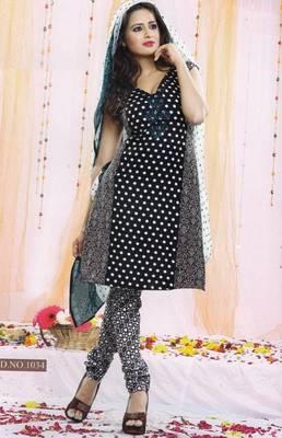 Dress Material Poly Cotton Unstitched Elegant Salwar Kameez Suit D.No B1034