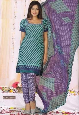 Dress Material Poly Cotton Unstitched Elegant Salwar Kameez Suit D.No B1036