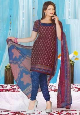 Dress Material Crepe Unstitched Elegant Salwar Kameez Suit D.No 7366
