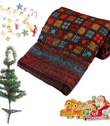 Buy Jaipuri Single Quilt Colorful Christmas Tree Gift 137 christmas-gift online