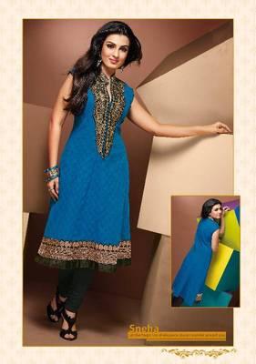 ISHIN Cotton Blue kurti Sneha_XL
