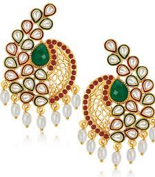 Buy Classic Gold Plated Australian Diamond Earrings hoop online