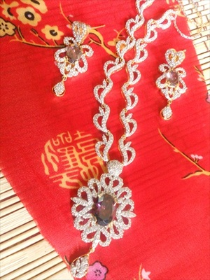 Diamond Necklace Set 2-100174
