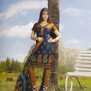 Elegant Cotton Dress Material Unstiched Salwar Kameez Suit D.NO. PB10022