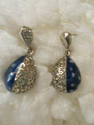 Blue Earrings-06090