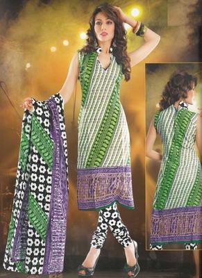 Elegant designer Lawn coton unstitched dress material D.No. BC4001