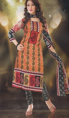 Elegant designer Lawn coton unstitched dress material D.No. BC4004