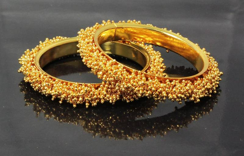 Buy Designer Gold Plated Golden Bangles Fashion Jewellery