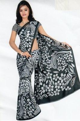 Sarees faux chiffon elegant designer piece with blouse piece d.no A7012
