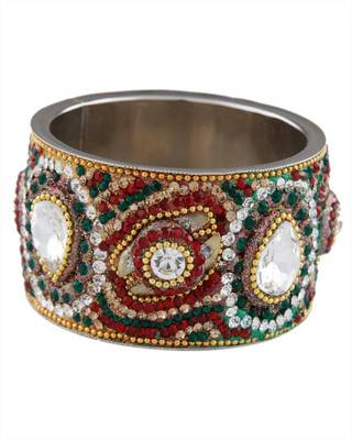 Art Mannia Broad Stone Work Ethnic Kada