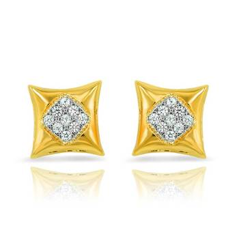 Mahi Gold Plated Vivid Extravagance Earrings With CZ Stones