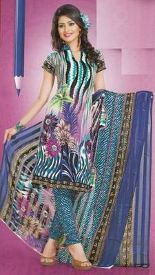 Dress Material Crepe Designer Prints Unstitched Salwar Kameez Suit D.No AP915