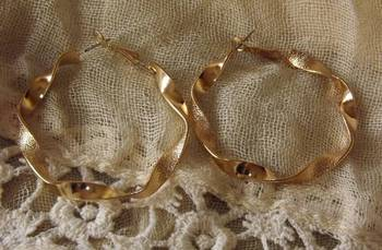 Golden Twisty Hoops