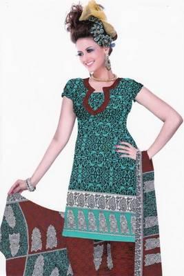 Dress material crepe designer prints unstitched salwar kameez suit d.no U511